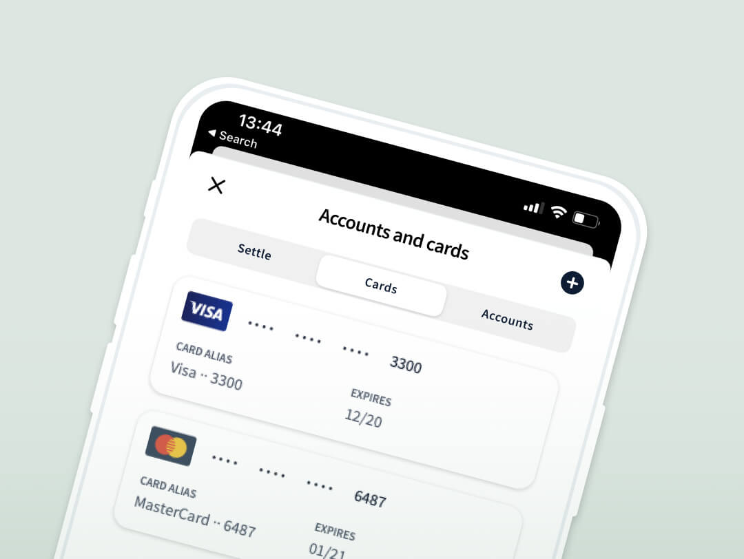 Accounts and cards